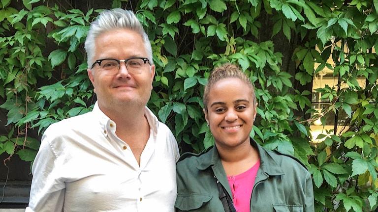 Jan Gradvall och Seinabo Sey. Foto: Mattias Ahlm/Sveriges Radio