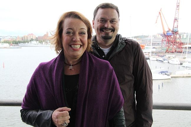 Nina Stemme och Roger Wilson. Foto: Mina Benaissa/Sveriges Radio