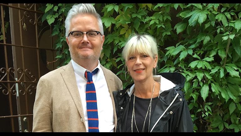 Pressbild: Jan Gradvall och Kajsa Grytt Foto: Lovisa Ohlson/Sveriges Radio