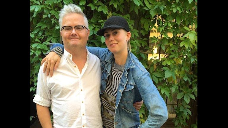 Jan Gradvall och Anna Ternheim. Foto: Lovisa Ohlson/Sveriges Radio