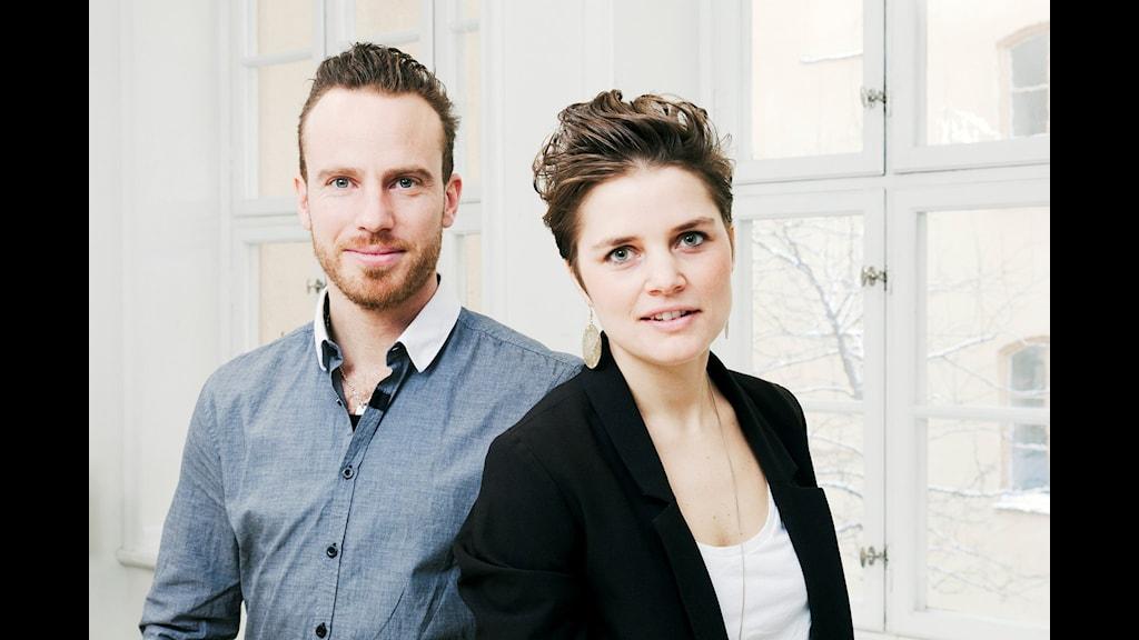 Matens pris Daniel Öhman och Malin Olofsson. Foto: Mattias Ahlm/Sveriges Radio