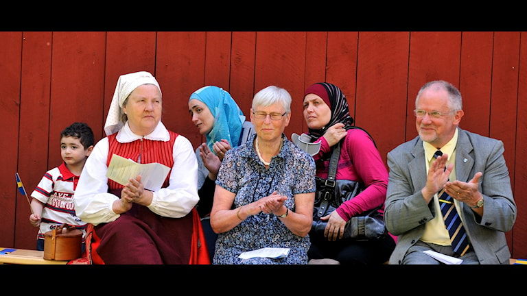 Nationaldagsfirande i Upplands Väsby. Foto: K-G Zahedi Fougstedt
