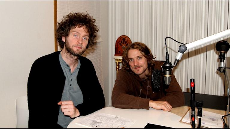 Mattias Gustavsson och Gustav Ejstes frå̊n Dungen: Foto: Karin Eller/Massa Media