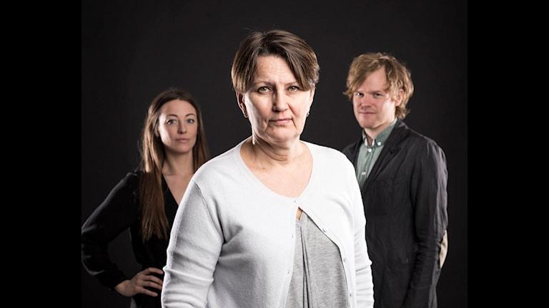 Ekots lördagsintervju: My Rohwedder, Monica Saarinen, Erik Hedtjärn. Foto: Mickael Grönberg/Sveriges Radio