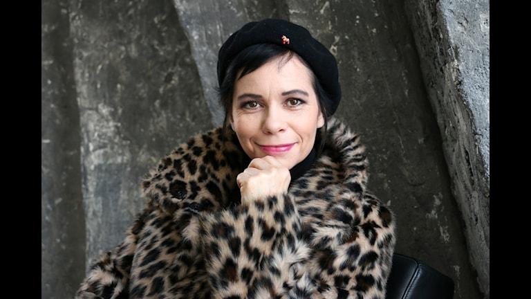 Carolina Norén, programledare för Svensktoppen i P4. Foto: Ronnie Ritterland/Sveriges Radio