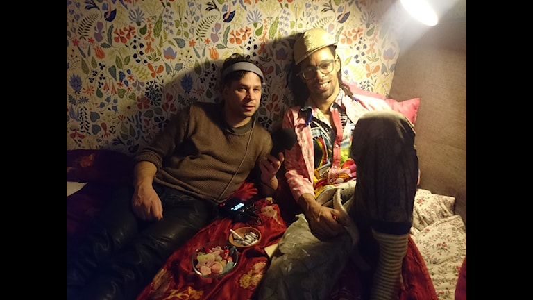 Makode Linde och Martin Wicklin Foto: Hannah Engberg/Sveriges Radio