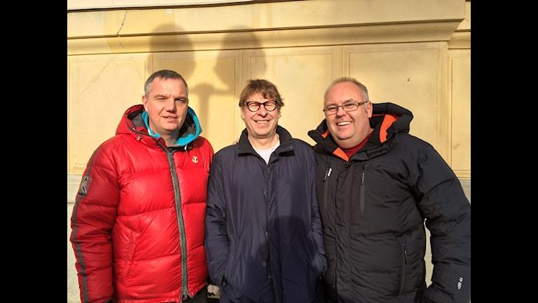 Jonas Enarsson, Roger Burman och Lasse Persson. Foto: Sveriges Radio