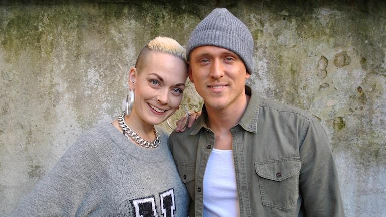 Sanna Bråding och Danny Saucedo. Foto: Anders Olsson