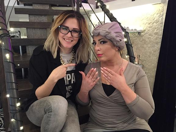 Celina Rydén och Iman Aldebe. Foto: Clara Lowden