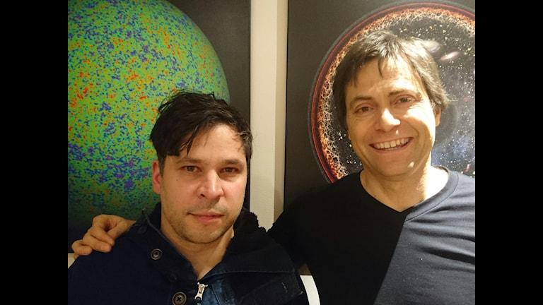 Martin Wicklin och Max Tegmark. Foto: Sveriges Radio