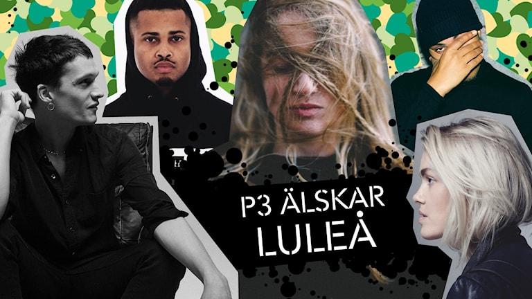 Jonathan Johansson, Erik Lundin, Silvana Imam, Michel Dida och Ana Diaz. Kollage: Angelica Norgren/Sveriges Radio