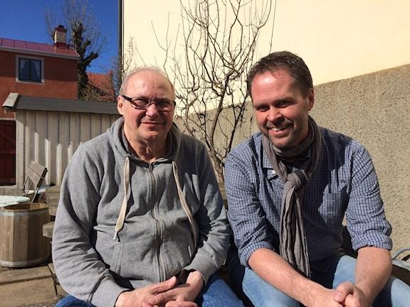 Leif Källberg (f.d. Andersson) med programmakaren Stefan Sundberg.