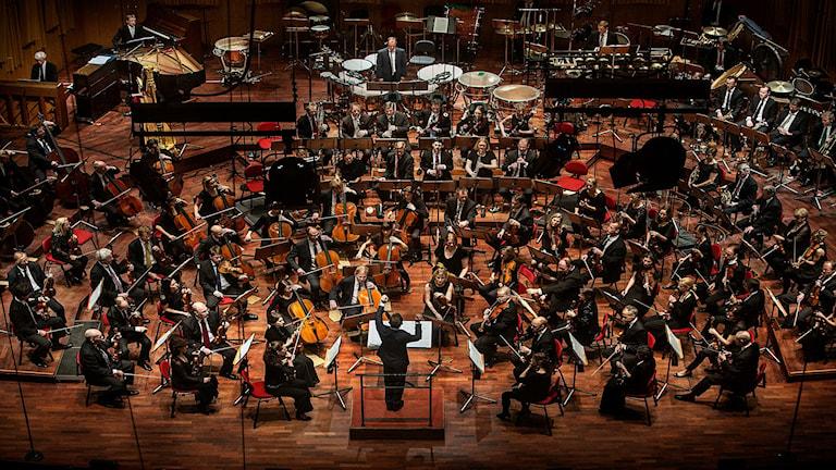 Sveriges Radios Symfoniorkester, Daniel Harding chefsdirigent. Fotograf: Magnus Laupa