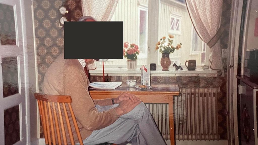 En ytterst sällsynt bild på den okände mannen som spelade in sina händelselösa resor runt om i Sverige på kassettband. Hör historien om hans mysterium i P4 Dokumentär i Sveriges Radio-appen den 12 maj eller i P4 den 16 maj Foto: Okänd