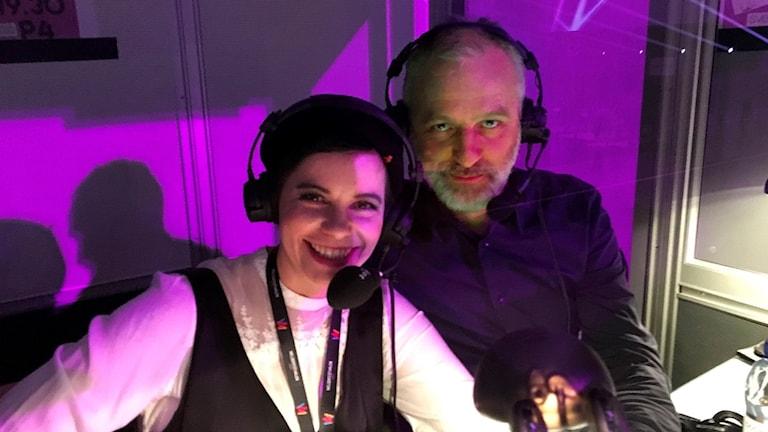 Carolina Norén och Björn Kjellman. Foto: Lotta Linde-Rahr/Sveriges Radio
