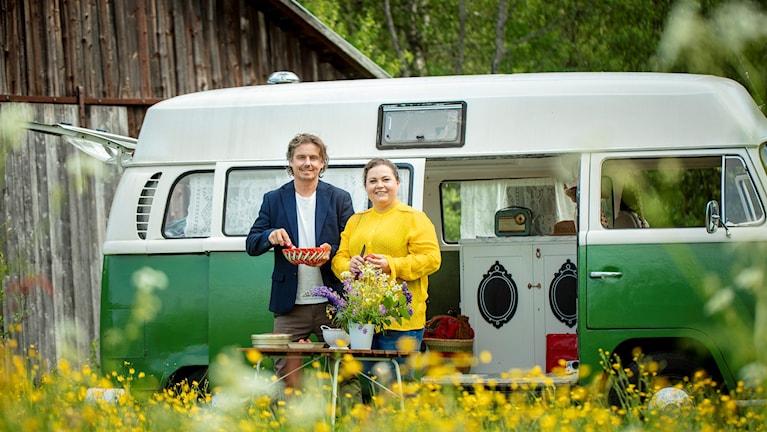Meny Norrlandsresan - Gerhard Stenlund och Susanne Jonsson. Foto: Andreas Nilsson