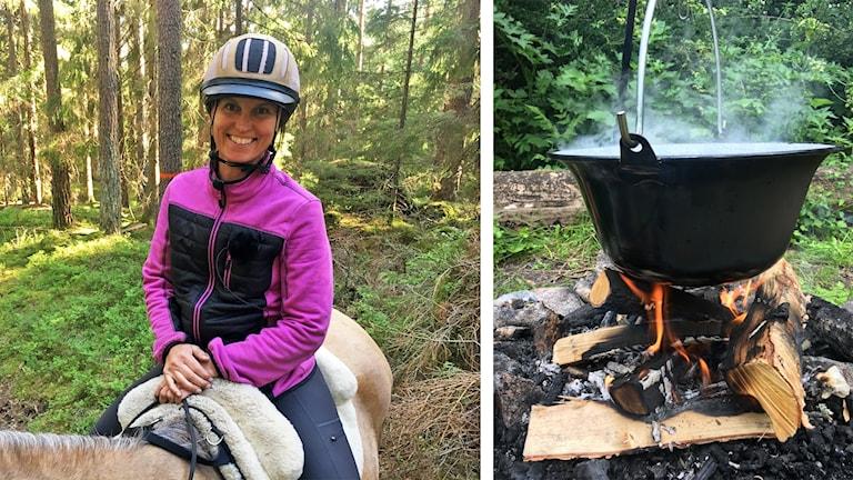 Ute med P1, Jessica Sannö till häst