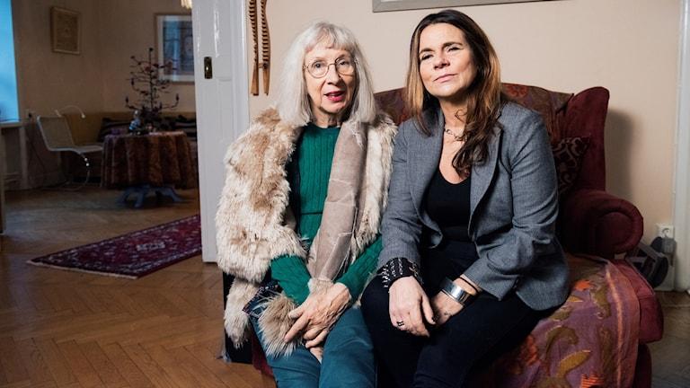 Suzanne Osten och Katarina Hahr. Foto: Alexander Donka/Sveriges Radio