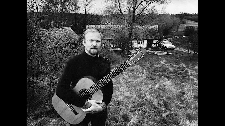 Olle Adolphson, trubadur och kompositör. Foto: SVT Bild.