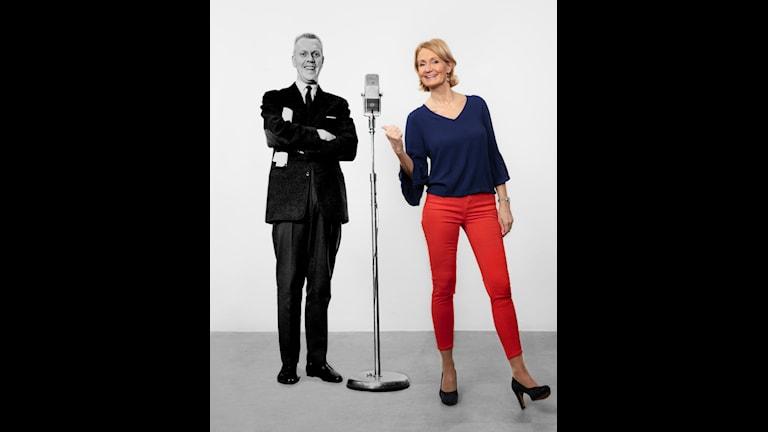 Tage Danielsson och Bibi Rödöö Foto: SVT Bild och Mattias Ahlm/Sveriges RAdio