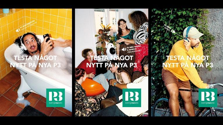 P3 varumärkeskampanj 2020.