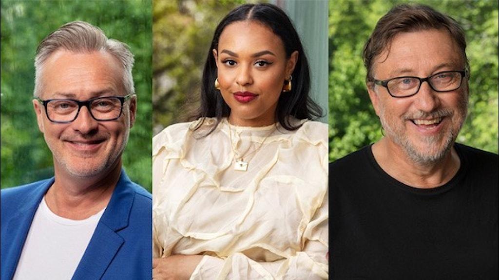 Tony Irving, Amie Bramme Sey och Janne Josefsson är några av de som programleder Karlavagnen Sommarkväll i P4. Foto: Mattias Ahlm/Sveriges Radio