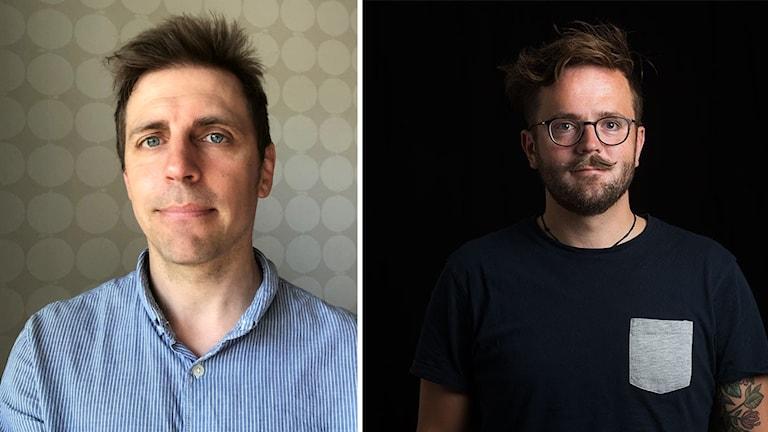 Porträttfoto på Nils Eklund och Joseph Knevel