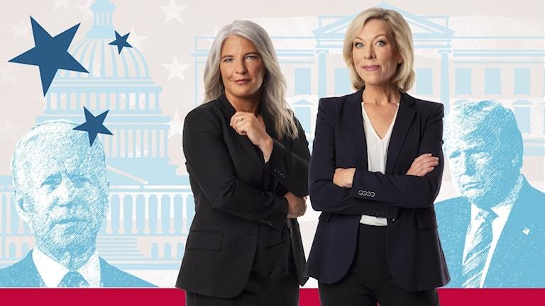 USApoddens Sara Stenholm och Ginna Lindberg