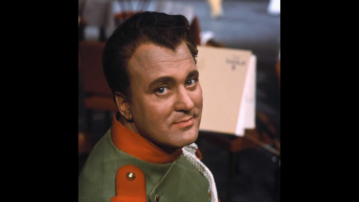Nicolai Gedda, svensk tenor. Foto: SVT Bild.