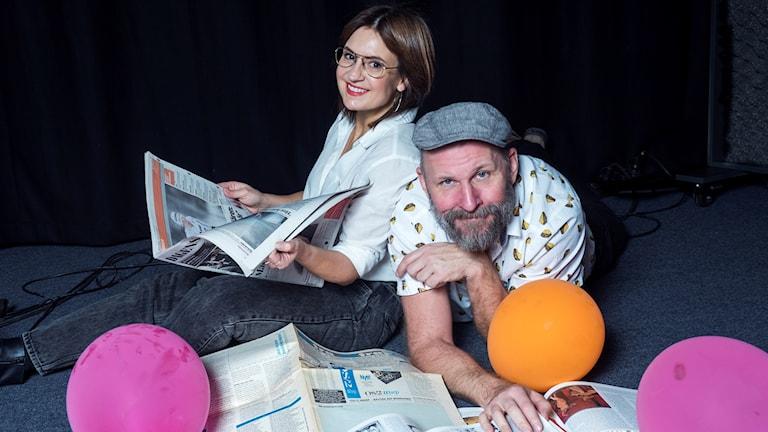 Susanna Dzamic och Kalle Lind Foto: Anders Roos
