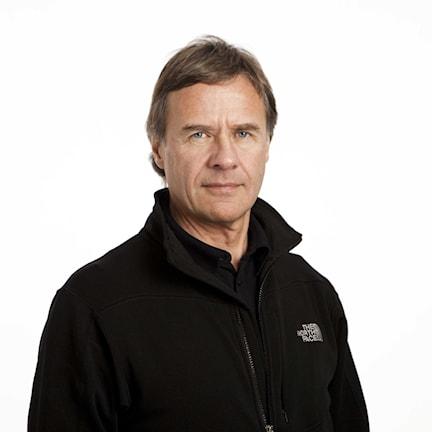 Torgny Svensson, expertkommentator alpint. Foto: Johan Ljungström/Sveriges Radio.