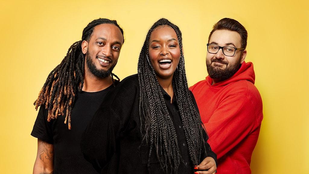 Ahmed Berhan, Assia Dahir och Johannes Cakar. Foto: Lina Arvidsson