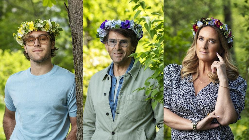 Benjamin Ingrosso, Niklas Strömstedt och Denise Rudberg