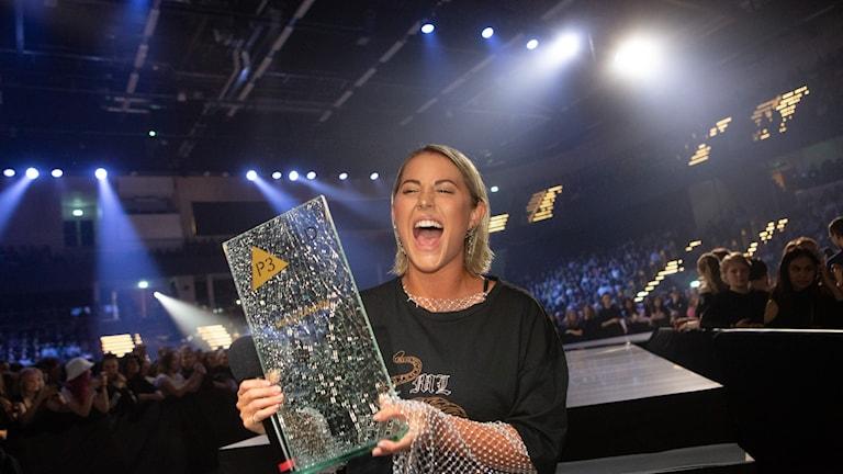 Molly Sandén var en av kvällens stora vinnare på P3 Guld 2020.