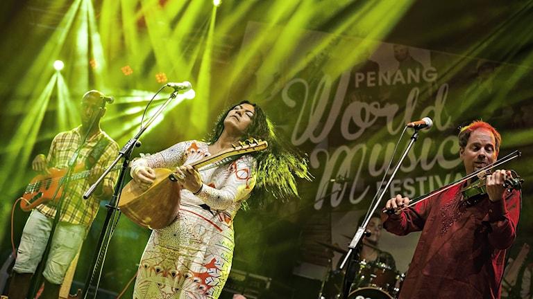 Nadin Al Khalidi och gruppen Tarabband, Penang World Festival, Malaysia.