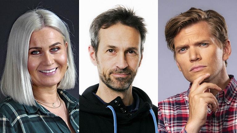 Sara Johansson, Dave Russell och Henrik Torehammar får Sveriges Radios språkpris 2019.