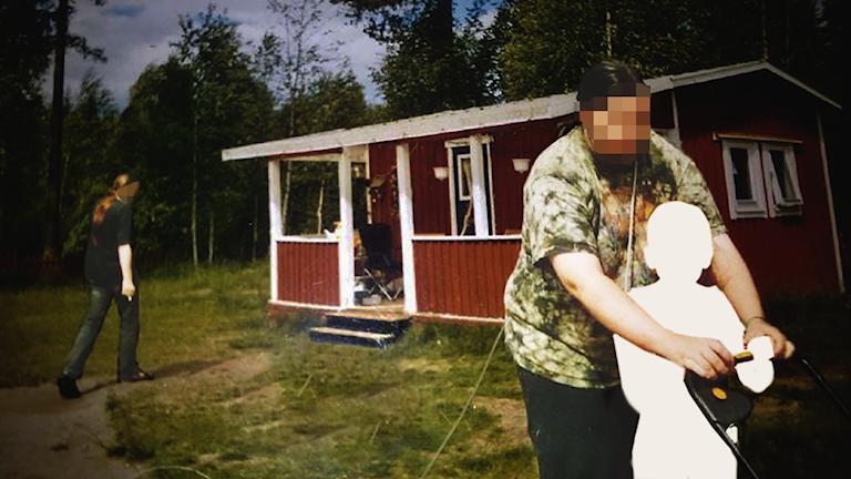 Bild från Polisens förundersökning. Privat foto. Bilden är redigerad av integritetsskäl av Sveriges Radio.