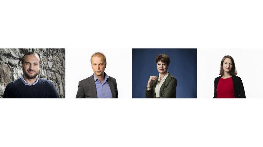 Farzad Nouri, Kristian Åström, Ullakarin Nyberg och Sara Heyman