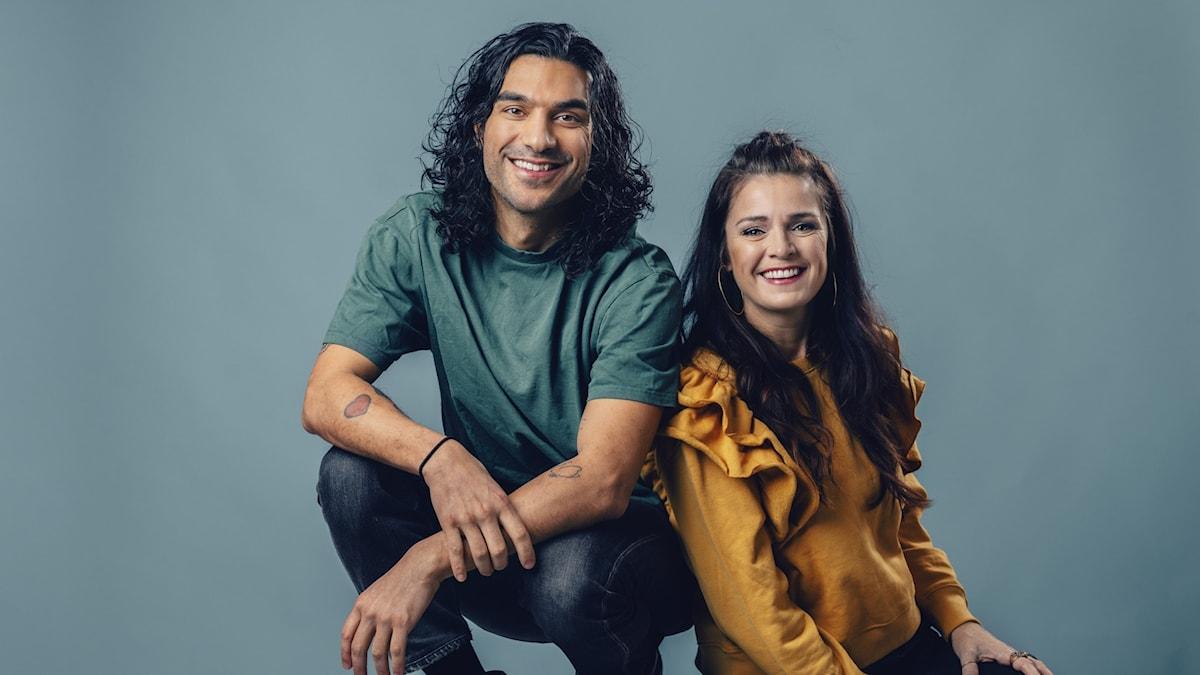 Farzad Farzaneh och Ylva Hällen, nya programledare för Barnmorgon.