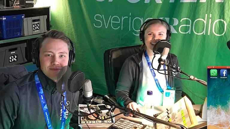 Alexander Lundholm och Petra Svensson i Radiosportens OS-studio