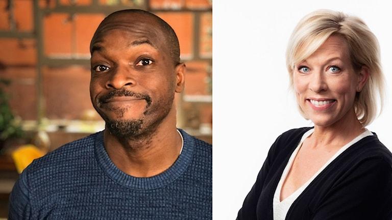 Kodjo Akolor och Ginna Lindberg Foto: SVT och Sveriges Radio