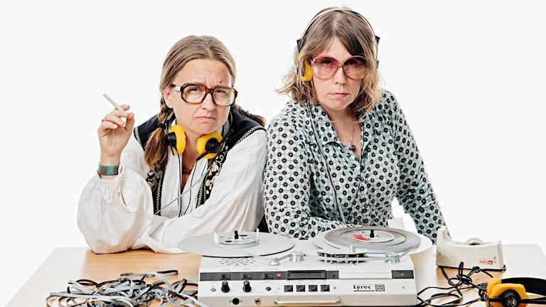 Åsa Asptjärn och Gertrud Larsson. Foto: Martina Holmberg/Sveriges Radio