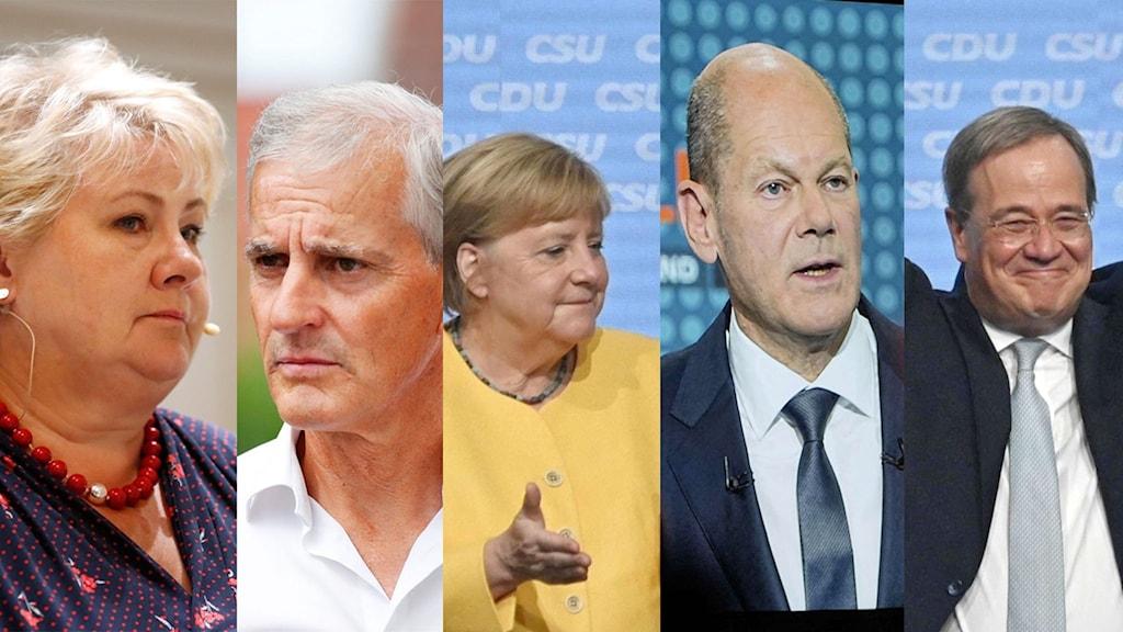 Val i Norge och Tyskland 2021
