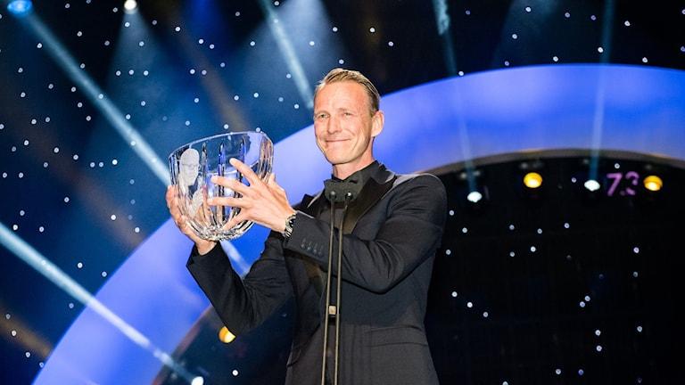 Peder Fredricson vinner Radiosportens Jerringpris 2017. Foto: Alexander Donka