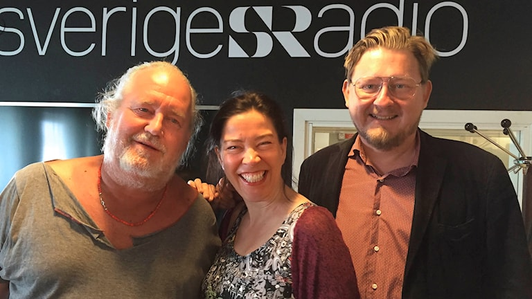 Plura Jonsson, Marie Lundström och Fredrik Virtanen. Foto: Fredrik Olsson/Sveriges Radio