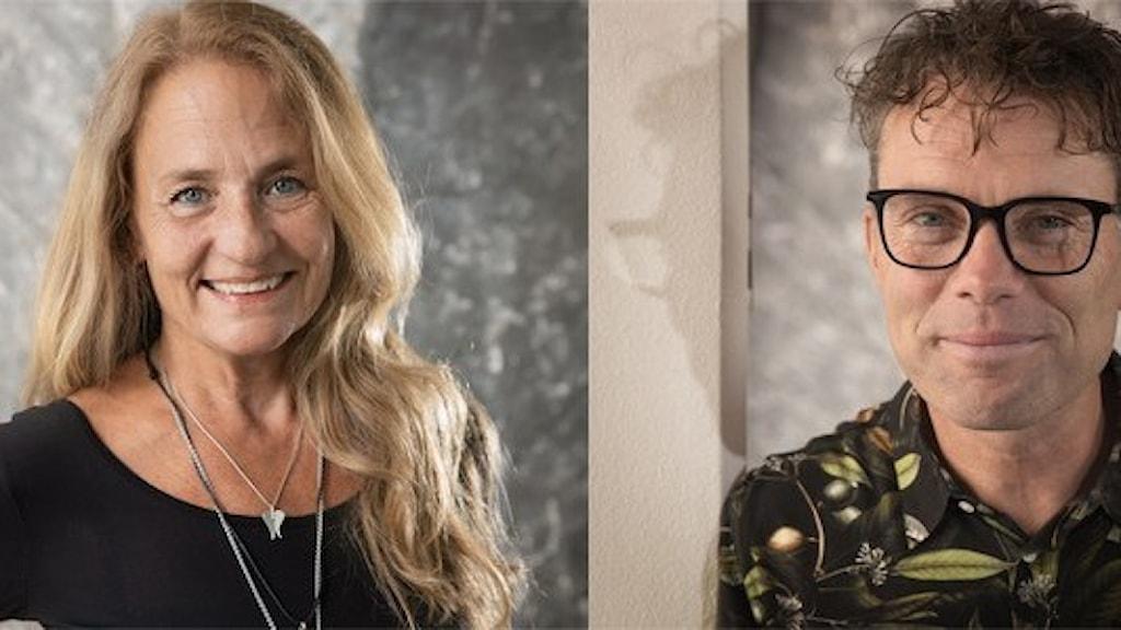 Susanne Tellinger , känd från Vaken i P3 och P4 och Henrik Olsson, tidigare programledare i P4 Stockholm, blir nya programledare i P4 Plus. Foto: Åsa Stöckel/Sveriges Radio