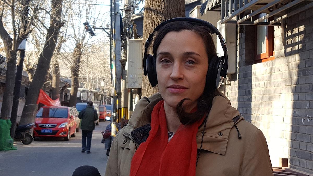 Hanna Sahlberg Sveriges Radios Kinakorrespondent.
