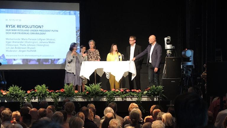 Maria Persson Löfgren, Inger Arenander, Johanna Melén, Thella Johnson och Jan Andersson.