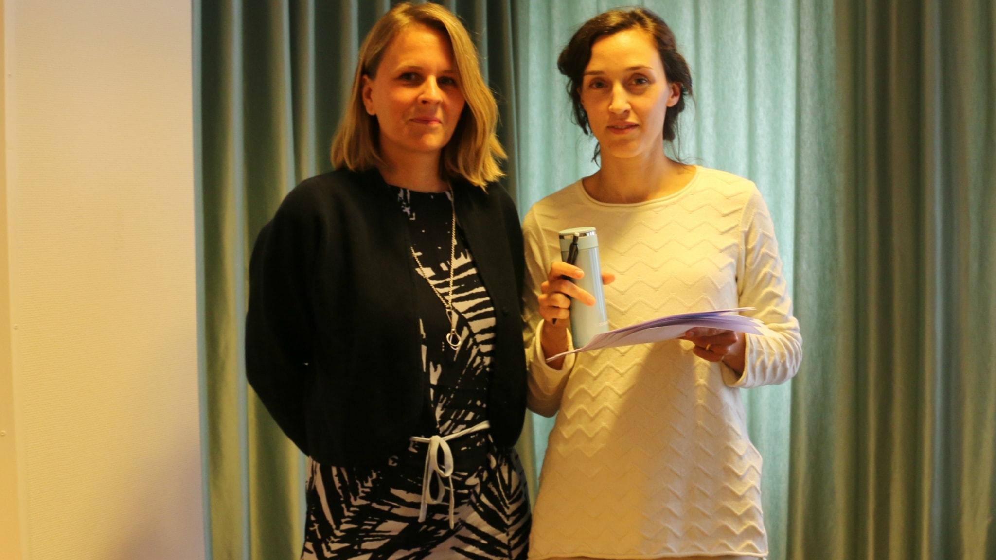 Malin Oud och Hanna Sahlberg.