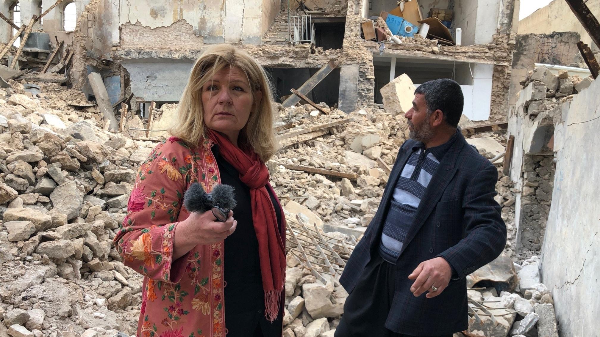 Cecilia Uddén i spillorna efter kriget mot IS i Irak